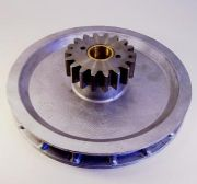 "Aluminium Chainwheel, 9"",  c/w 18T 6DP steel gear (both products specs. as available separately)"